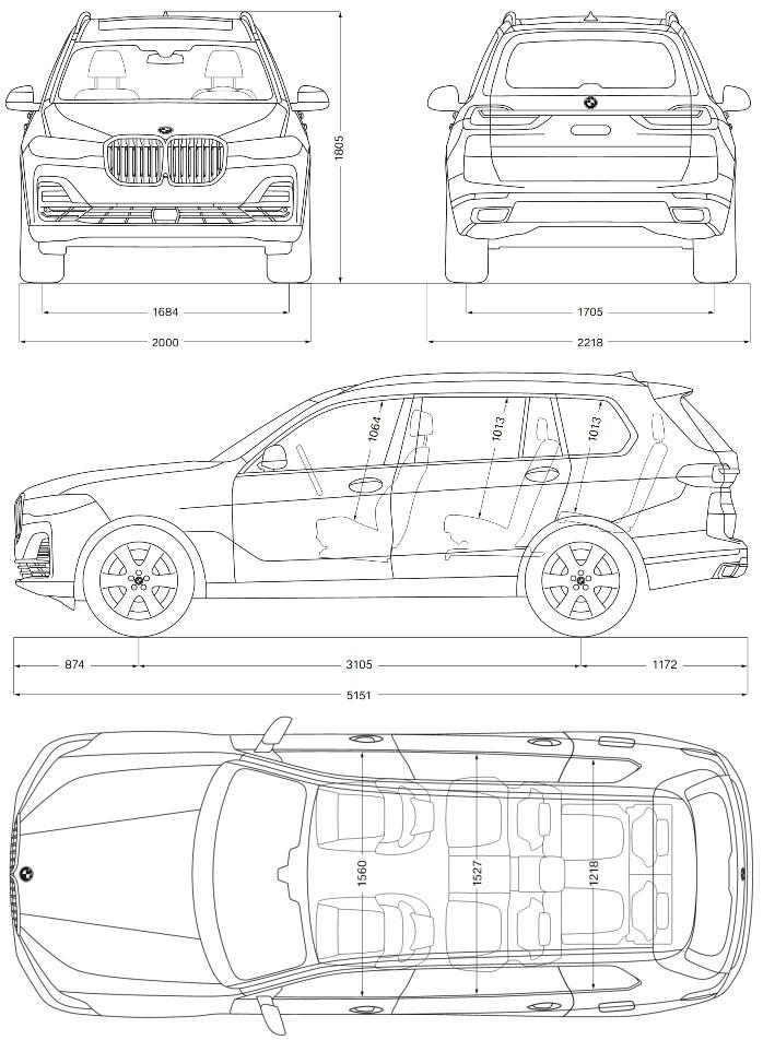 BMW X7 габариты