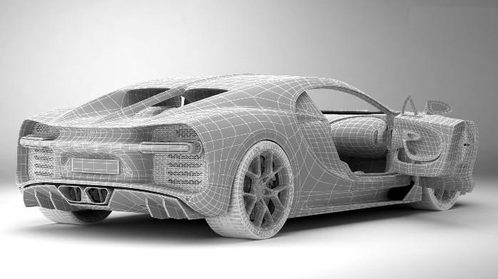 Bugatti Chiron frame