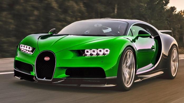 Bugatti Chiron green